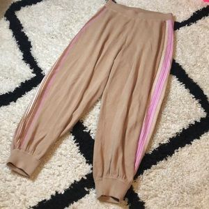 Intimately Free People Tan Striped Joggers